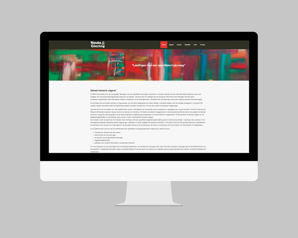 Website uitgeverij Nauta - Giesing